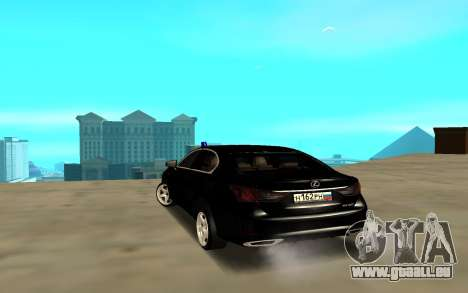Lexus GS pour GTA San Andreas sur la vue arrière gauche