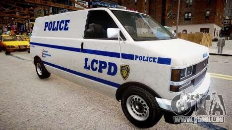 LCPD Declasse Burrito Police Transporter pour GTA 4