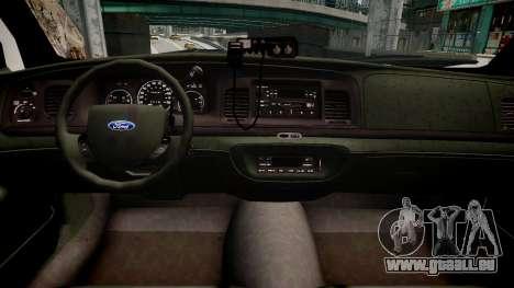 Ford Crown Victoria CVT Detective für GTA 4 Innenansicht