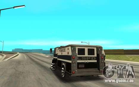 DFT30 Enforcer pour GTA San Andreas sur la vue arrière gauche
