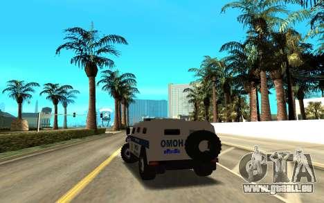 GAZ-233036 pour GTA San Andreas sur la vue arrière gauche