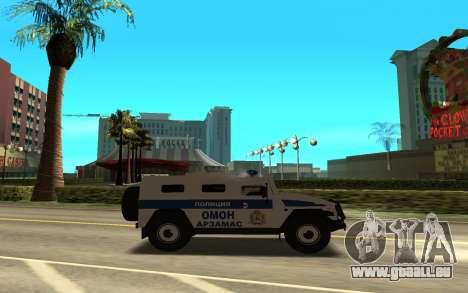 GAZ-233036 pour GTA San Andreas laissé vue