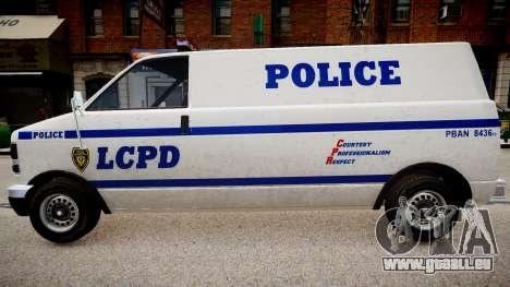 LCPD Declasse Burrito Police Transporter pour GTA 4 est un droit