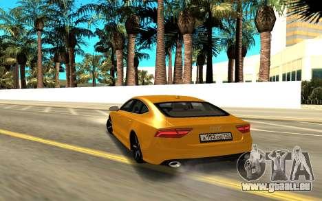 Audi A7 für GTA San Andreas zurück linke Ansicht