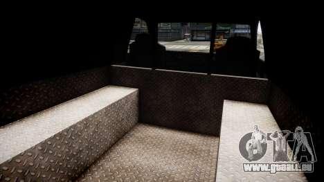 LCPD Declasse Burrito Police Transporter pour GTA 4 est une vue de l'intérieur
