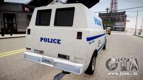 LCPD Declasse Burrito Police Transporter pour GTA 4 est une gauche
