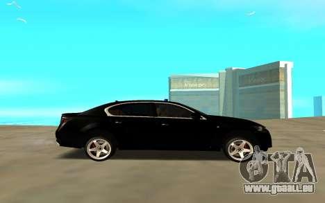 Lexus GS pour GTA San Andreas laissé vue