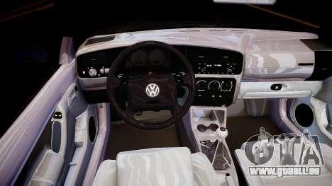 Volkswagen Golf 3 GTI pour GTA 4 est une vue de l'intérieur