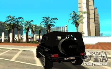Mercedes-Benz G55 AMG pour GTA San Andreas sur la vue arrière gauche