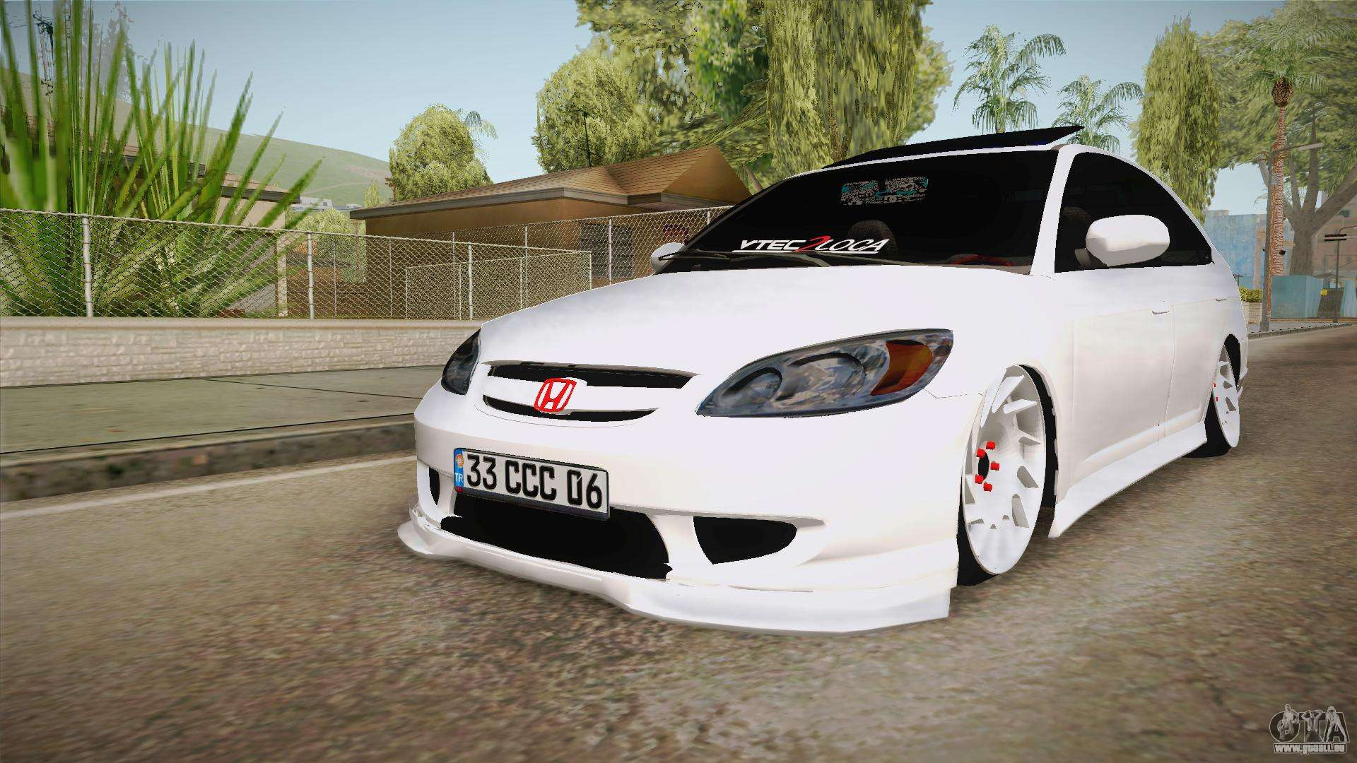 honda civic vtec 2005 pour gta san andreas. Black Bedroom Furniture Sets. Home Design Ideas