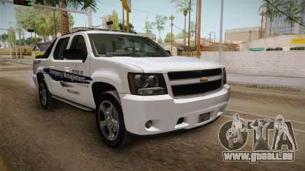 Chevrolet Avalanche 2008 Emergency Management für GTA San Andreas