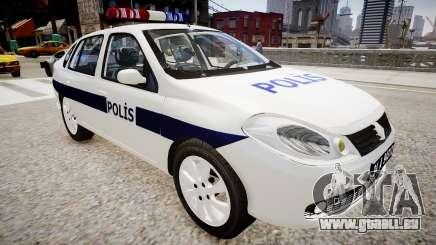 Renault Clio Symbol Police 2011 pour GTA 4