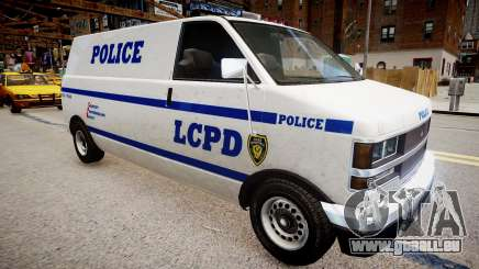 LCPD Declasse Burrito Police Transporter für GTA 4