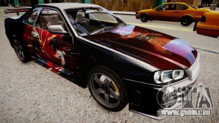 Nissan Skyline R34 Paintjob by eXTaron pour GTA 4
