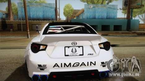 Scion FR-S Aimgain pour GTA San Andreas vue de dessus