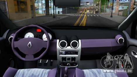 Renault Logan Taxi pour GTA San Andreas vue intérieure