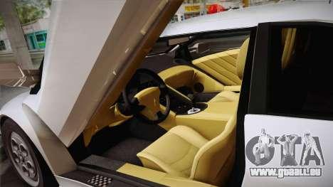 Lamborghini Diablo VT FBI 1995 pour GTA San Andreas vue intérieure