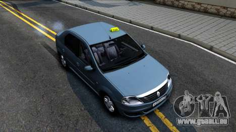 Renault Logan Taxi pour GTA San Andreas vue de droite