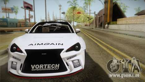 Scion FR-S Aimgain pour GTA San Andreas vue arrière