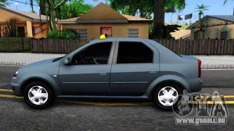 Renault Logan Taxi pour GTA San Andreas laissé vue