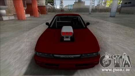 Nissan Silvia S13 Drag pour GTA San Andreas sur la vue arrière gauche