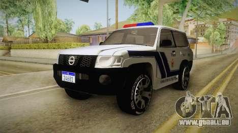 Nissan Patrol Y61 Police für GTA San Andreas rechten Ansicht