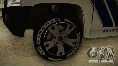Nissan Patrol Y61 Police für GTA San Andreas Rückansicht