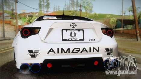 Scion FR-S Aimgain pour GTA San Andreas vue intérieure