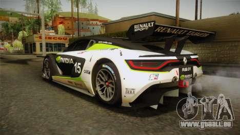 Renault Sport R.S.01 PJ2 pour GTA San Andreas salon