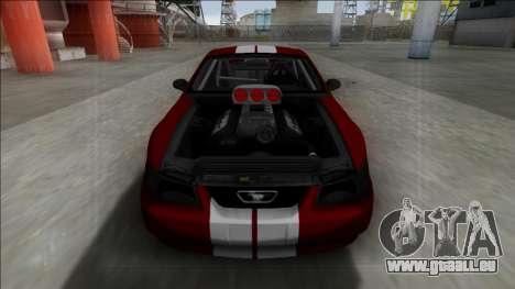 1999 Ford Mustang Drag für GTA San Andreas zurück linke Ansicht