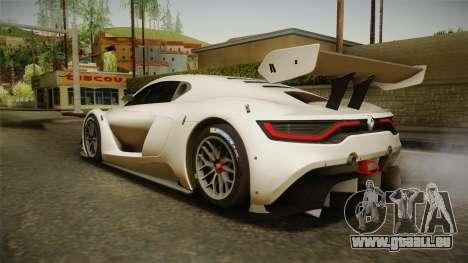 Renault Sport R.S.01 PJ2 pour GTA San Andreas laissé vue