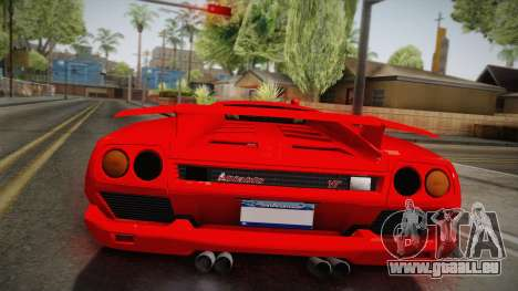 Lamborghini Diablo VT FBI 1995 pour GTA San Andreas vue arrière