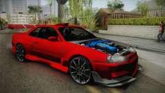 Nissan Skyline R34 Tuned für GTA San Andreas