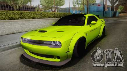 Dodge Challenger Hellcat Liberty Walk LB Perform pour GTA San Andreas