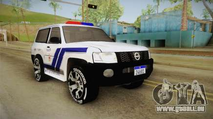 Nissan Patrol Y61 Police für GTA San Andreas