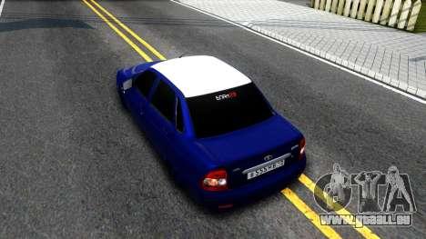 VAZ 2170 pour GTA San Andreas vue arrière