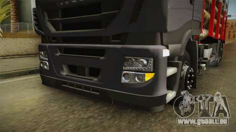 Iveco Stralis Hi-Way 560 E6 6x2 Timber v3.0 für GTA San Andreas obere Ansicht