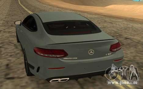 Mercedes-Benz C63S 2017 für GTA San Andreas zurück linke Ansicht