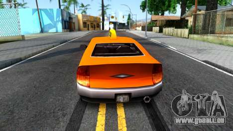 Kuruma GTA 3 Taxi pour GTA San Andreas sur la vue arrière gauche