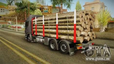 Iveco Stralis Hi-Way 560 E6 6x2 Timber v3.0 für GTA San Andreas zurück linke Ansicht