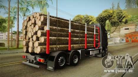 Iveco Stralis Hi-Way 560 E6 6x2 Timber v3.0 für GTA San Andreas linke Ansicht