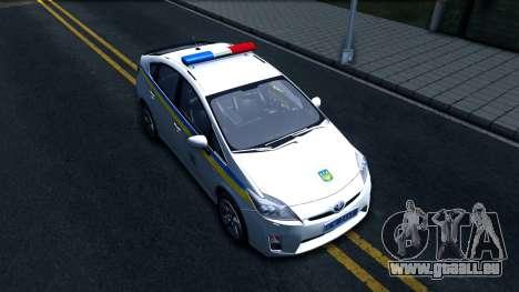 Toyota Prius Ukraine Police für GTA San Andreas rechten Ansicht