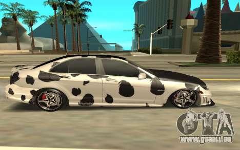 Mercedes-Benz C63 für GTA San Andreas linke Ansicht
