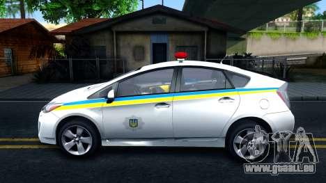 Toyota Prius Ukraine Police für GTA San Andreas linke Ansicht