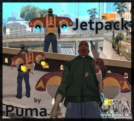Eine neue Jetpack für GTA San Andreas dritten Screenshot