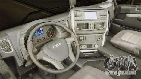 Iveco Stralis Hi-Way 560 E6 6x2 Timber v3.0 für GTA San Andreas Innenansicht