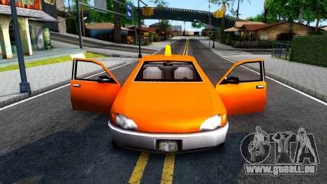 Kuruma GTA 3 Taxi pour GTA San Andreas vue intérieure