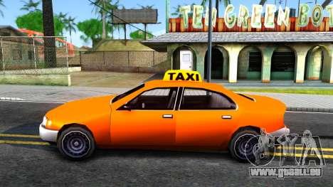Kuruma GTA 3 Taxi pour GTA San Andreas laissé vue