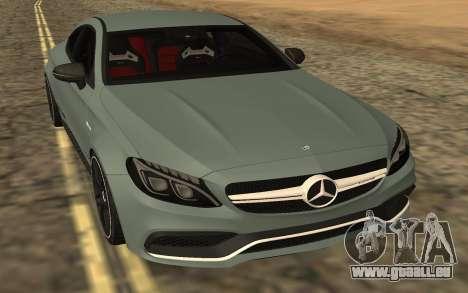 Mercedes-Benz C63S 2017 für GTA San Andreas