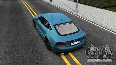Audi RS7 Sportback pour GTA San Andreas vue arrière